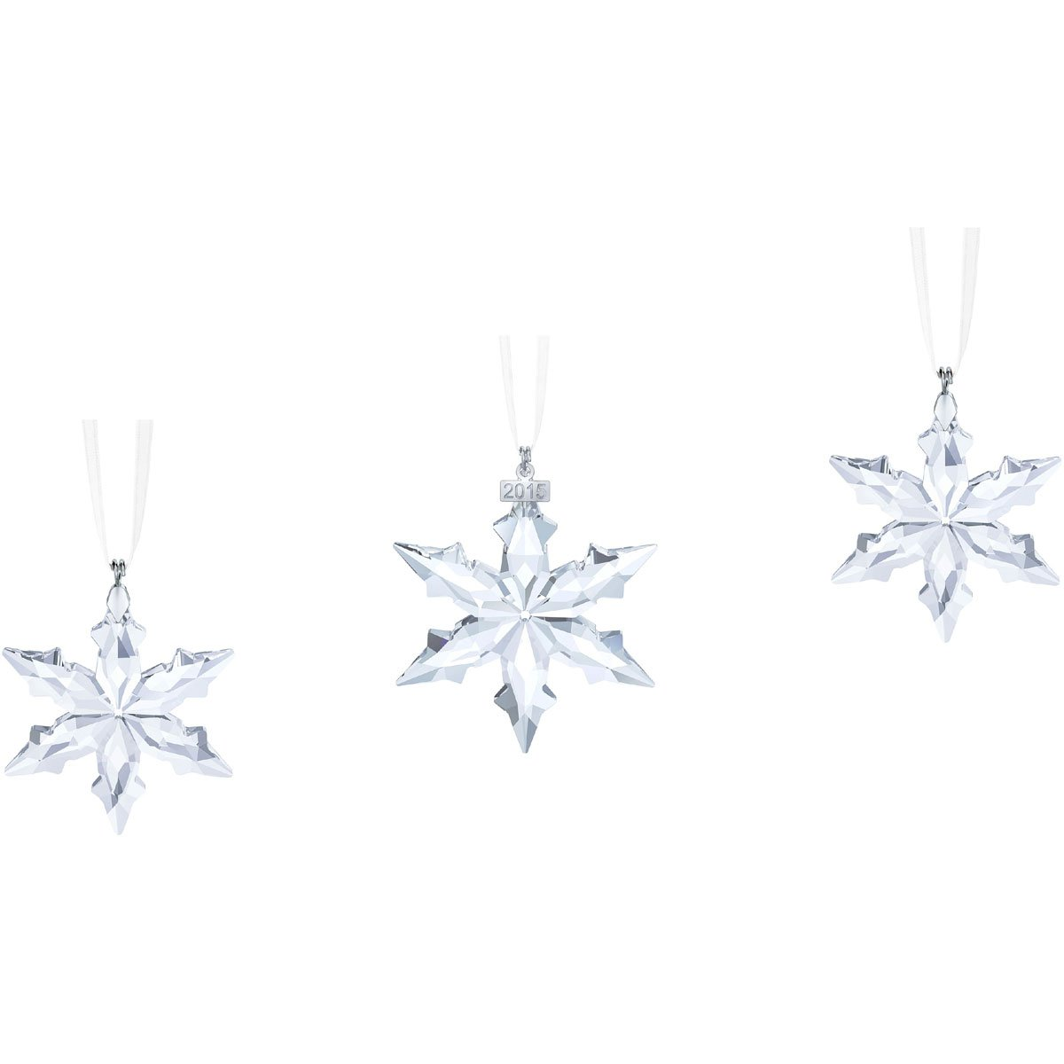 Swarovski Weihnachtsornament Set, Glas, Transparent