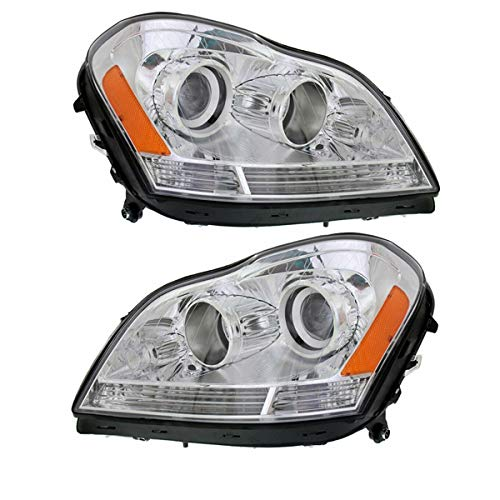 Koolzap For 07-12 Benz GL-Class Front Headlight Headlamp Halogen Head Light Lamp Set Pair (2007 Mercedes Benz Gl Class Gl320 Cdi)