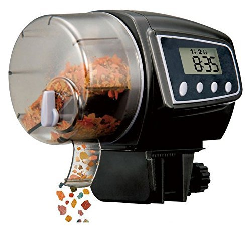 KLAREN 2005D Food Hopper Holds 35 Grams Aquarium Automatic Fish Food Tank Feeder Timer (Batteries Included) by KLAREN