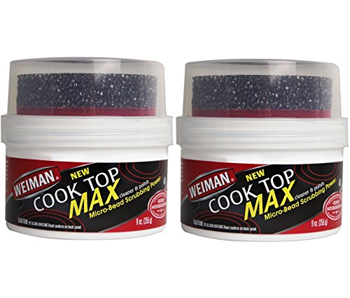 Top Heavy Duty Gas Range - Weiman Cook Top Max Cleaner and Polish - 9 Ounce 2 Pack - Heavy Duty Cooktop Cleaner Removes Burnt On Food Use On Induction Ceramic Gas Portable Electric