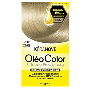 keranove coloration oleo color brillance prodigieuse 913 blond clair cendr audacieux - Coloration Keranove
