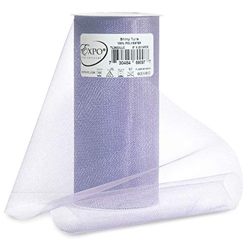 Expo Shiny Tulle Spool of 25-Yard, Lilac]()