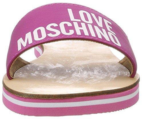 Love Moschino, Mules para Mujer Plateado (Fuchsia)