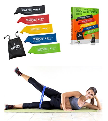 Exercise Resistance Loop Bands, 5 Distinct Strength Levels, Comes With A Carry...