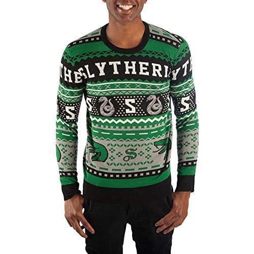 Slytherin Sweater Harry Potter Sweater Slytherin Apparel Hogwarts Sweater-Medium from Bioworld