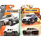 Matchbox Mercedes Benz G63 AMG 6x6 Silver Gray Grey and White Set of 2