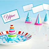 Glitterville Birthday Party Placecard Holders Seat Cards Glitter Girls Set of 8