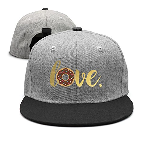 I Donut Love You Funny Doughnuts Women's Hip-hop Hat Snapback Hat