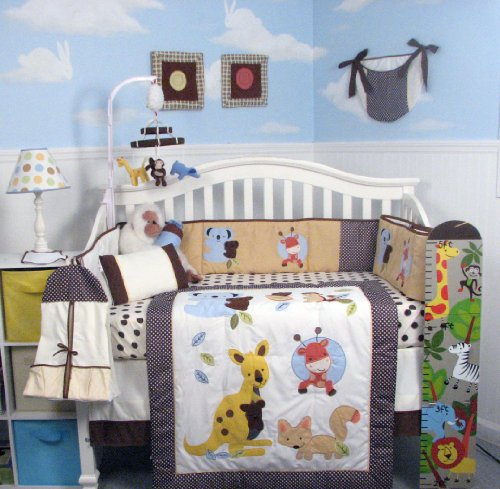 Australia Kangaroo Baby Nursery Bedding Set 14 pcs