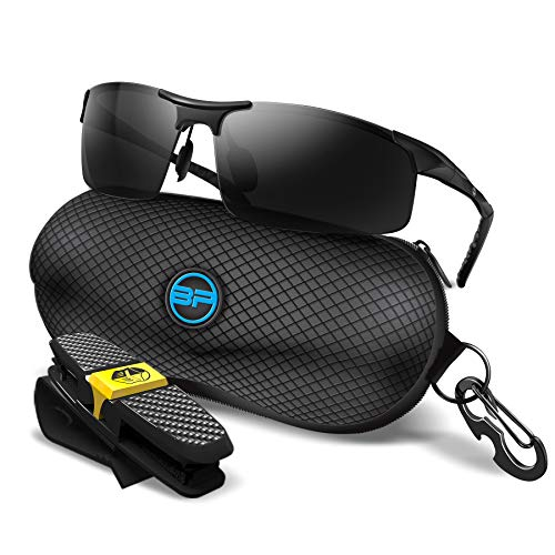 BLUPOND Sports Sunglasses for Men/Women - Anti Fog Polarized Shooting Safety Glasses for Ultimate Eye Protection (Black Frame Black Lens)