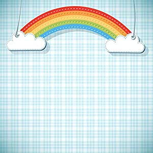 BuEnn 10x10ft Rainbow Clouds Telón de Fondo Personalizado ...