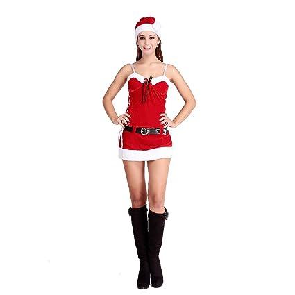 HOTER Women's Sexy Secret Santa Costume/Mrs Miss Christmas Santa Fancy  Dress Costume Outfit