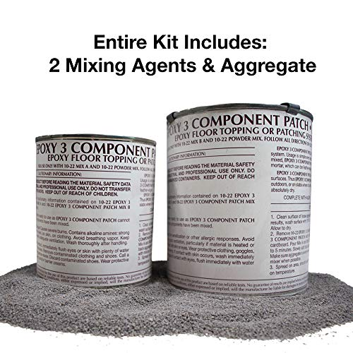 3 Part EPOXY Mortar Patching System - Contains Resin, Hardener & Aggregate. Fills Cracks, Holes, Pits & More! Bonds to Concrete, Asphalt, Wood & Metal. (25 lb Pail) by FDC (Image #1)