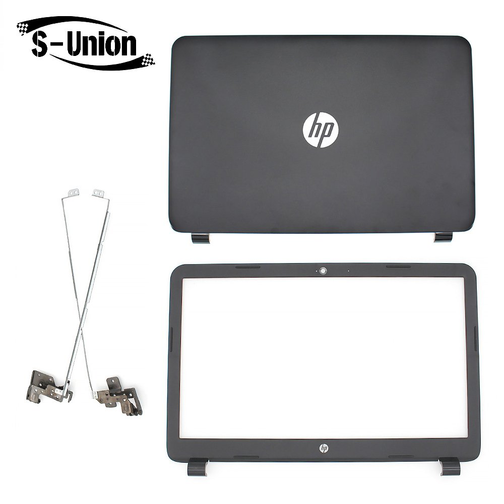 S-Union New Replacement LCD back cover & Front Bezel & hinges for HP 250 255 G3 15-G 15-H 15Z-G 15G 15R 15-G040CA 15.6'' Series Laptop