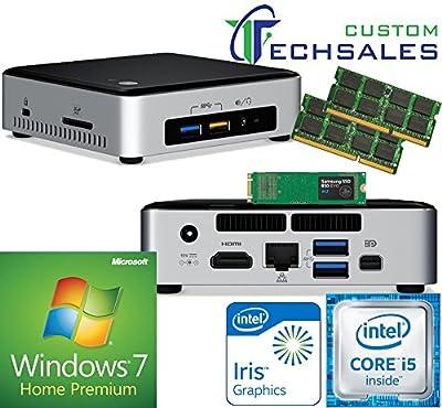 Intel NUC NUC6i5SYK Mini PC (Skylake) i5-6260U,500GB Samsung SSD, 8GB RAM Windows 7 Home Installed & Configured