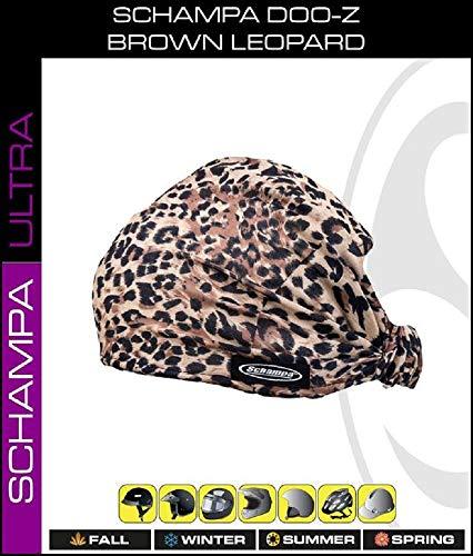 (Brown Black Leopard Spots Schampa Doo - Z Multi Wear Use Headwrap Headscarf Durag Face Mask Scrunchie ...)