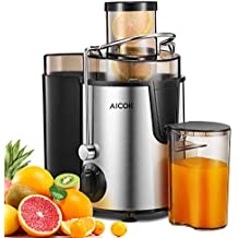 Juicer Aicok Centrifugal Juicer with Wide Mouth, 3 Speed Juice Extractor for Fruit and Vegetable, Stainless Steel and BPA Free