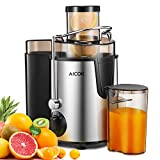 Juicer Aicok Juice Extractor with Wide Mouth, 3 Speed Centrifugal Juicer for Fruit and Vegetable, plus Pulse Function, Stainless Steel and BPA free