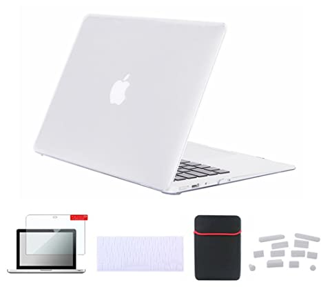 on sale b69c1 26d07 Se7enline Clear MacBook Pro 15 inch Case Crystal Soft-Touch Hard Cover for  MacBook Pro 15 inch A1398 with Retina display with Sleeve Bag, Keyboard ...
