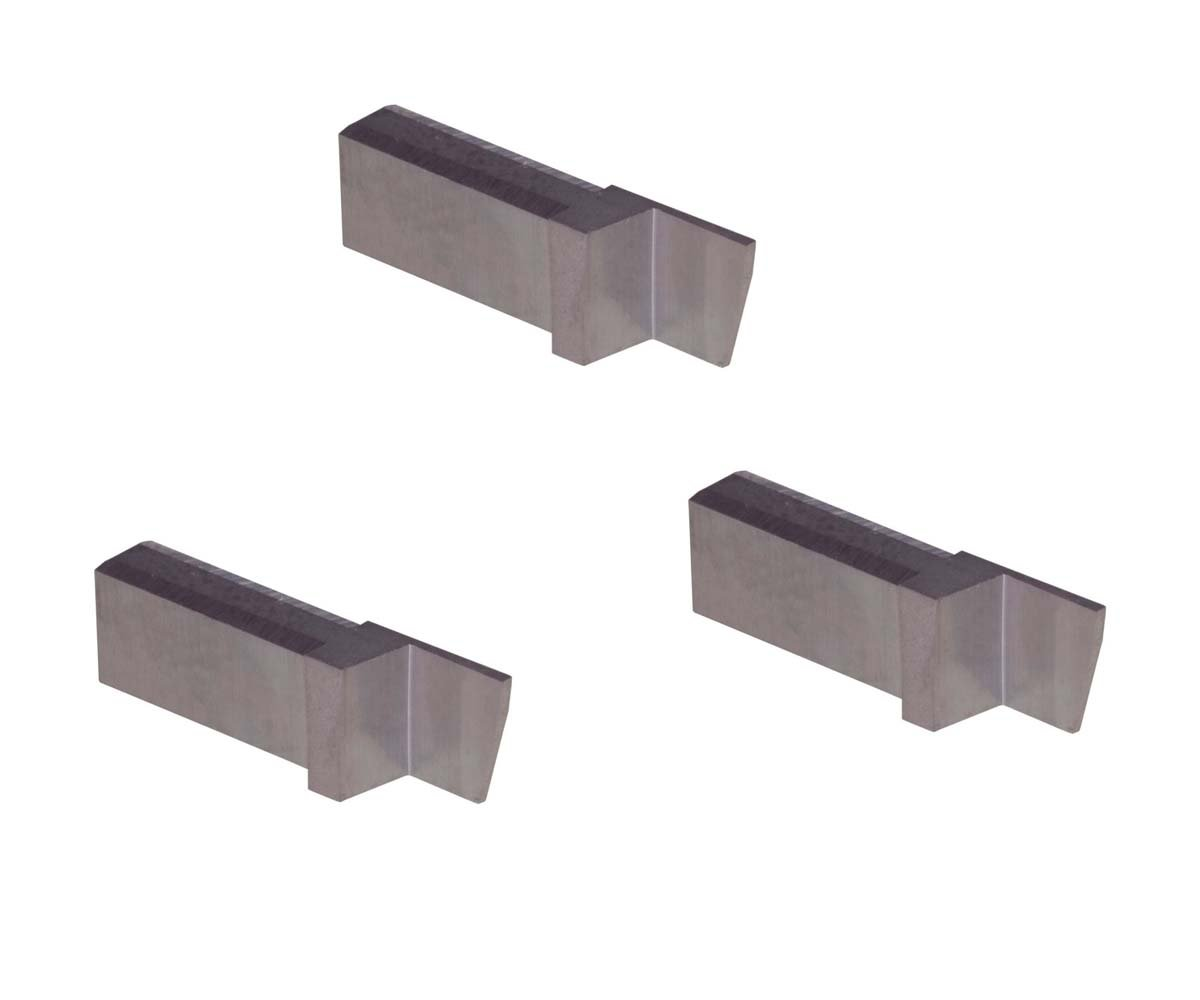 Aluminium and Plastic Without Interrupted Cuts Parting Insert for Non-Ferrous Alloys THINBIT 3 Pack LGPT025D5R L Series Uncoated Carbide