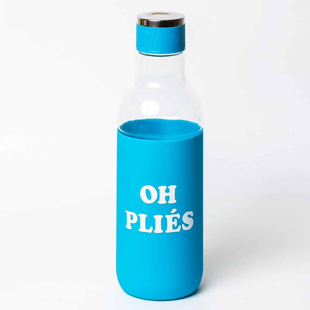 Covet Dance Oh Pliés - Water Bottle with Silicone Sleeve (Aqua) by Covet Dance (Image #2)