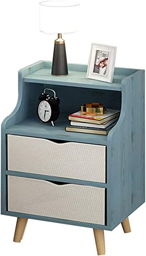 Bedside Table Simple Modern Bedroom Bedside 2 Drawers Simple Storage Locker Load 300KG-303048cm DELICATEWNN