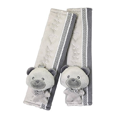 Price comparison product image Auto Car Seat Belt Cover Plush Seat Shoulder Pad Cushion 2 Pcs One Pair (Grey)