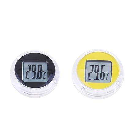 White Motorcycle Digital Thermometer Waterproof Temperature Gauge Temp Meter