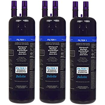 Refrigerator Filter W10295370, W10295370A, EDR1RXD1, and Kenmore 46-9930 Refrigerator Water Filters ( 3-pcs )