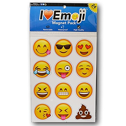 Everything Emoji Magnets | 24 Cute, Funny, Cool | So Fun Decorating Home, Office or School With Personal Emoticons | Unique Gift or Stocking Stuffer | Most Popular Emojis