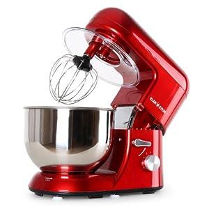 Klarstein TK2-Mix8-R Bella Rossa Küchenmaschine, 1200W, 5 Liter rot