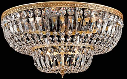 Bohemian Crystal 4 Light Flush Mount Crystal Grade Majestic Wood
