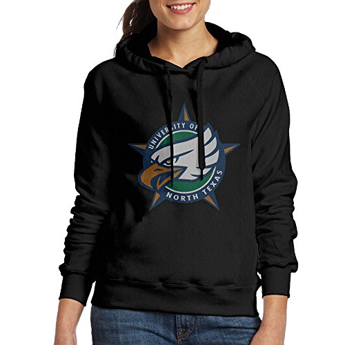 fan products of FUOALF Women's Pullover University Of North Texas Eagles Hoodie Sweatshirts Black S