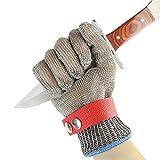 UMIWE 316L Stainless Steel Wire Butcher Glove Cut Resistant Chain Mail Gloves Kitchen Butcher Working Safety Glove