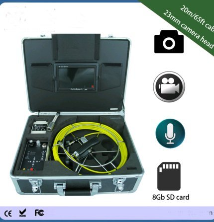 Kohstar hot sale portable classic model 30m cable 7 inch monitor sewer drain video inspection camera with DVR function