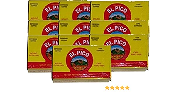 Amazon.com : Cafe El Pico 10 PACK Dark Roasted Ground Coffee 10 x 284 g : Grocery & Gourmet Food