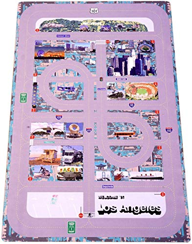 Forgetful Harry Designs Game Changing Kids Car Play Mat City for Coffee Tables and Activity Tables - Educational Map with Local City Roads and Landmarks (46.5