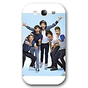 UniqueBox Customized White Frosted Samsung Galaxy S3 Case, One Direction(1D) Samsung S3 case, Only fit Samsung Galaxy S3