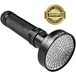 KOBRA UV Black Light Flashlight 100 LED - #1 Best UV Light and Blacklight Flashlight For Home & Hotel Inspection, Pet Urine & Stain Detection - Spot Counterfeit Money, Dangerous Leaks!