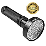 KOBRA UV Black Light Flashlight 100 LED #1 Best UV Light and Blacklight For Home & Hotel Inspection, Pet Urine & Stains - Ultra Intensity 18W 385-395nm LEDs Spot Counterfeit Money, Leaks, Scorpions!