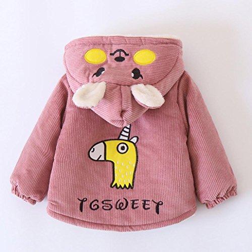 197eb20fa58e Lotus.flower Baby Boys Girls Corduroy Hooded Padded Coat Winter Warm ...