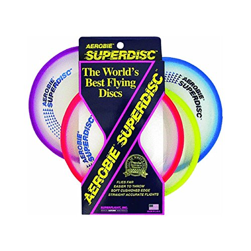 Aerobie Superdisc Outdoor Flying Disc - Colors May Vary - Sport Frisbee All