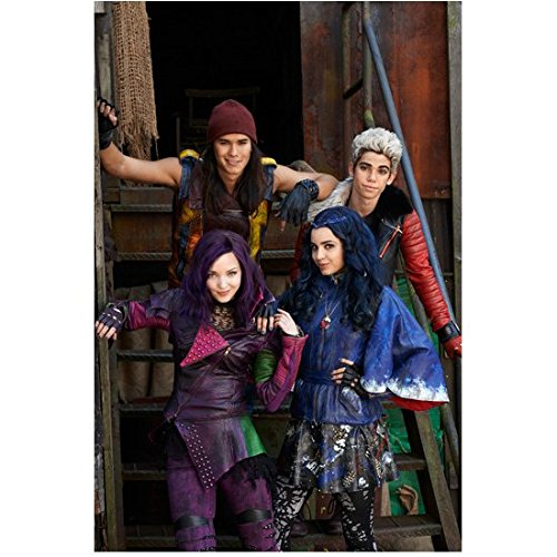 Descendants Boobo Stewart, Cameron Boyce, Dove Cameron and Sofia Carson on Stairs 8 x 10 Inch - Stewart Duff