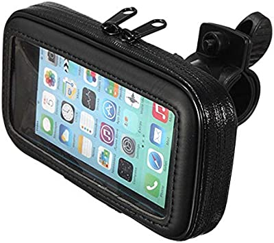 TOOGOO Manillar De Bicicleta Moto 5,5 Pulgadas Caja Bolsa Impermeable Sostenedor De Montaje De GPS De Telefono Celular: Amazon.es: Coche y moto