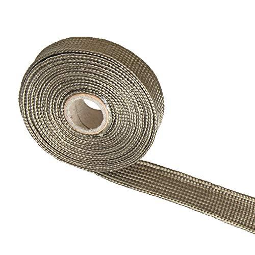 - Titanium Fiberglass Heat Wrap Wire Shield Sleeve- 3/5