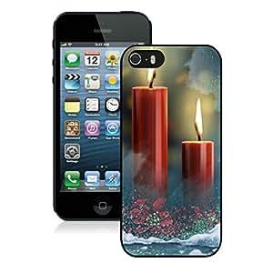 Customized Portfolio Iphone 5S Protective Case Merry Christmas iPhone 5 5S TPU Case 90 Black
