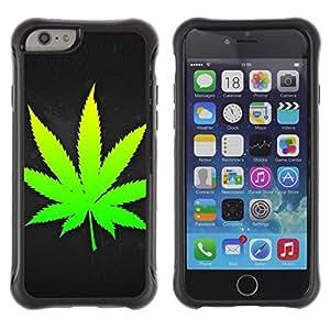 LASTONE PHONE CASE / Suave Silicona Caso Carcasa de Caucho Funda para Apple Iphone 6 PLUS 5.5 / Weed Leaf