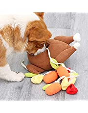 INIFLM Dog Snuffle Toy,Puppy Plush Sniffing Roasted Turkey Toys, Training Nose Interactive Game Feeding Toy,Pet Dog Chew Smell Training Doll for Small Medium Breed Dogs Cat