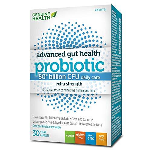 Genuine Health Advanced Gut Health Probiotic 50 Billion CFU (30 Caps) Extra Strenght