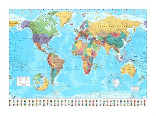55 x 39 world map - 8